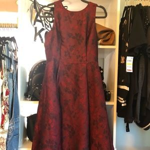 High low red/black gown. With pockets